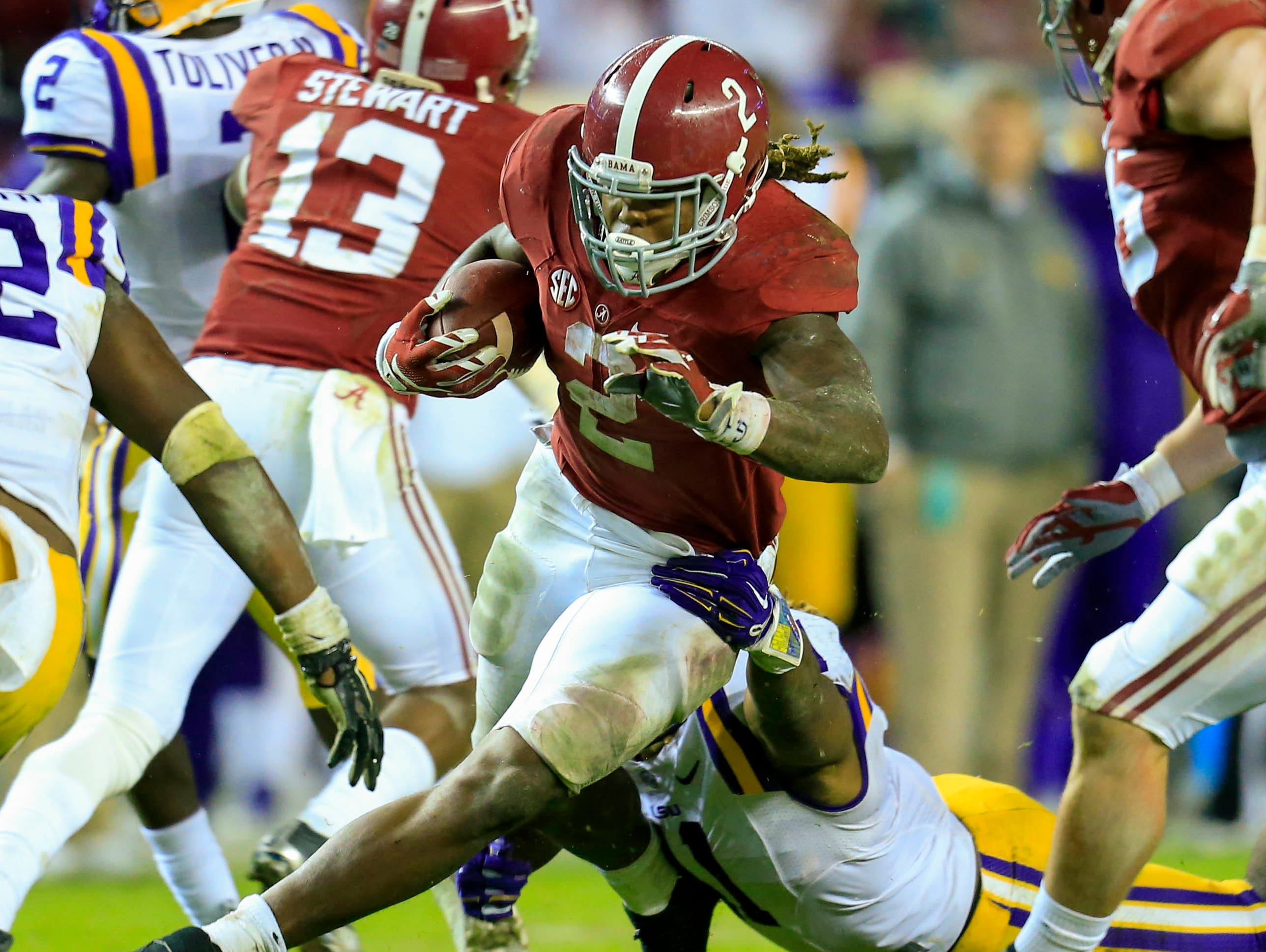 Alabama running back Derrick Henry is the sixth leading rusher in the country and faces Mississippi State this weekend.
