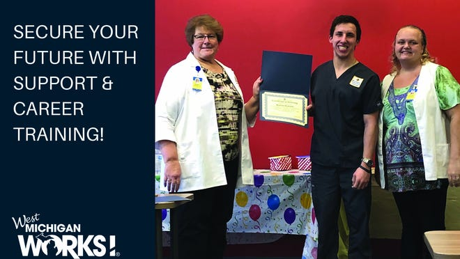 A trip to West Michigan Works helped set Hunter Daniels on his career path. In less than two years, Daniels went from jobless to earning his Certified Nursing Assistant certificate.
