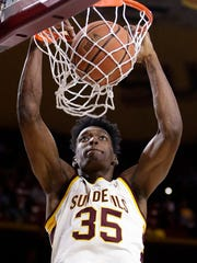 Arizona State forward De'Quon Lake.