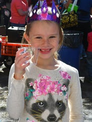 Larkyn Whitehead, 7, with some sparkling juice. The