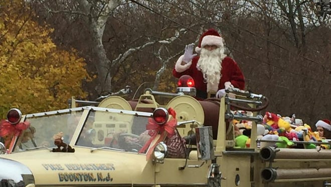Santa will ride on an old-fashioned fire truck in this weekend's Boonton Christmas Parade sponsored by the Fire Department.
