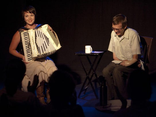 Simone Perrin (left) and Kevin Kling perform during