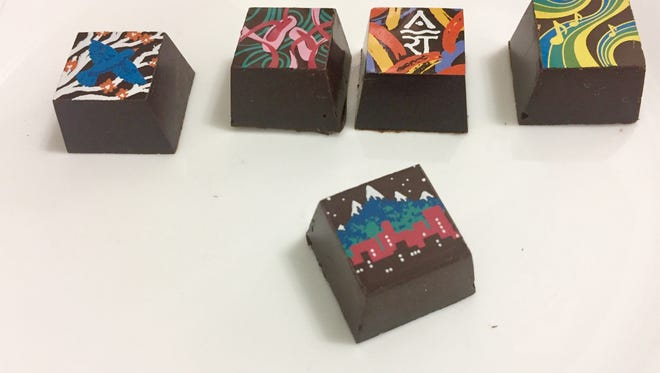 Artown 2017 features the Artown Chocolate Collection, a collaboration between Krysta Bea Jackson of Sugar Love Chocolates and artist Kate O'Hara, creator of this year's Artown poster.