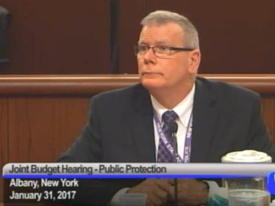 New York State Police Superintendent George Beach testifies