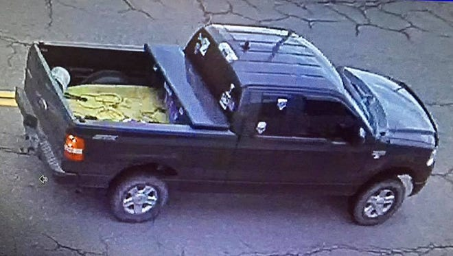 Police have released photos of a Ford-F-150 with skull stickers that may be involved in the case.