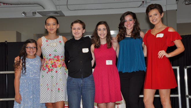 Miromar Has Talent winners take the stage: Hannah Cruz, Jolie Thomas-Grote, Michael Cherbini, Dezria Smith, Renate Ferrante and Ryleigh Plank. Each received a Miromar Outlets gift card.