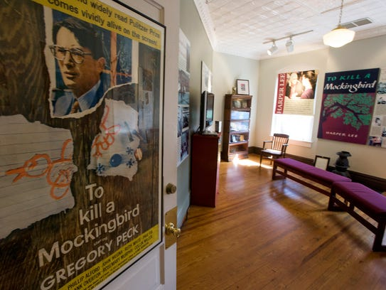 Displays at the Old Monroe County Courthouse in Monroeville,
