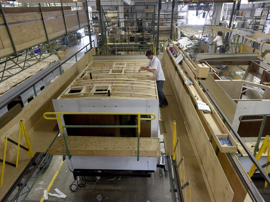 Elkhart's unemployment rate has plunged to 2.2 percent on the strength of the county's recreational vehicle industry.