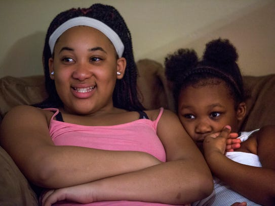 Mikyla and Jacqualine Browder at their home in Montgomery,