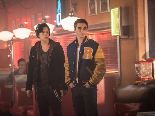 Jughead Jones (Cole Sprouse) and Archie Andrews (KJ