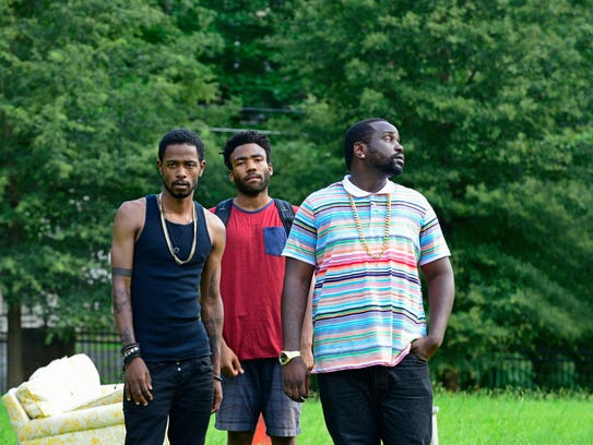Keith Standfield as Darius, from left, Donald Glover