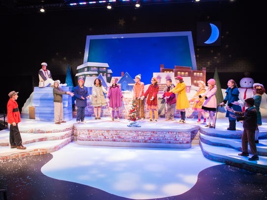 "Cast of First Stage's ""A Charlie Brown Christmas"""