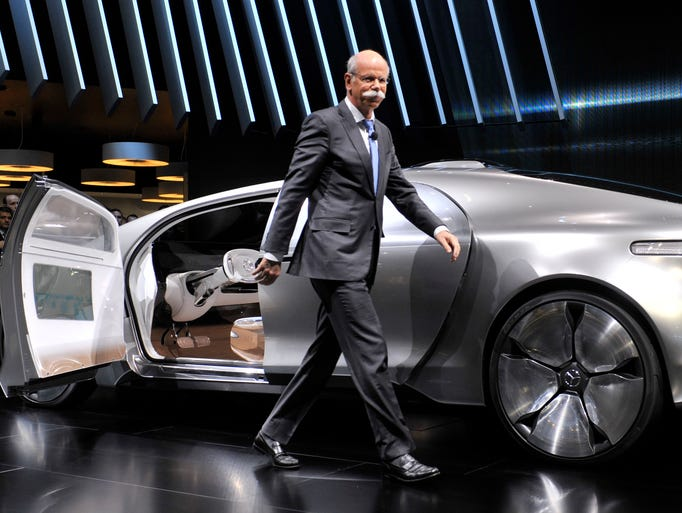 Dieter Zetsche, CEO of Diamler AG, introduces the Mercedes