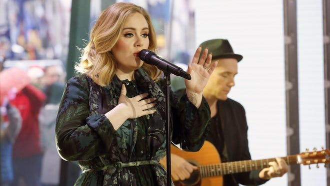 "Adele performs on the ""Today"" show in November to promote her latest release, ""25."""