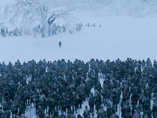 The White Walkers attack in 'Game of Thrones' Season