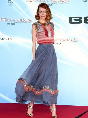 BERLIN, GERMANY - APRIL 15:  Emma Stone attends the 'The Amazing Spider-Man 2: Rise Of Electro' Berlin premiere at Sony Center on April 15, 2014 in Berlin, Germany.  (Photo by Anita Bugge/WireImage)