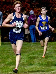 Notre Dame's Garrett Butters wins the boys Class D race at the Section 4 championships last fall at Chenango Valley State Park.