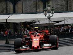 Ferrari driver Sebastian Vettel of Germany waves to the crowd during the second practice session at the Monaco racetrack, in Monaco, Thursday, May 23, 2019. The Formula one race will be held on Sunday. (AP Photo/Luca Bruno)