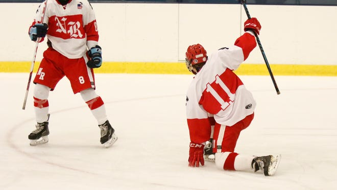 North Rockland defeats White Plains 6-1 in varsity ice hockey action at Sport-O-Rama in Monsey on Saturday, December 10, 2016.