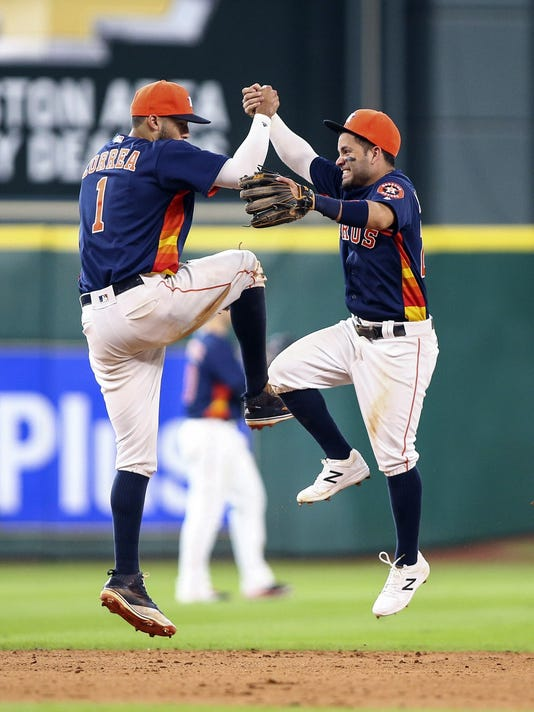 USP MLB: LOS ANGELES ANGELS AT HOUSTON ASTROS S BBA USA TX
