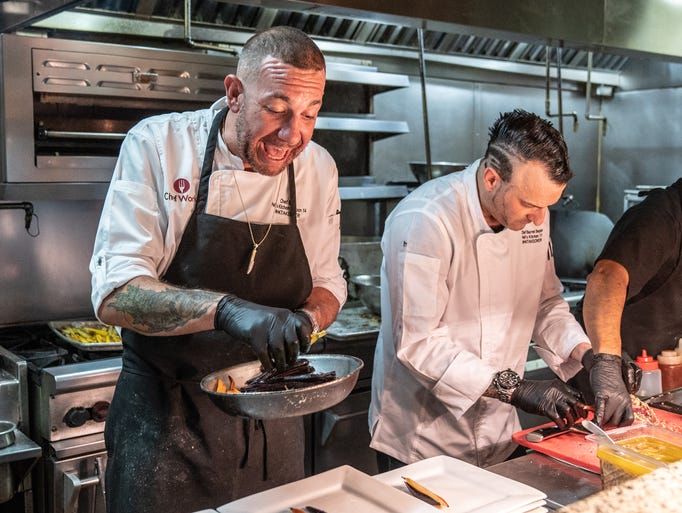 Chef Bret Hauser at the Hell's Kitchen Takeover Event