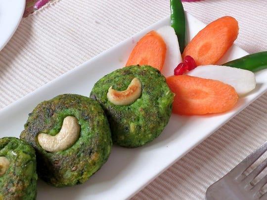 Hara Bara Kebab, prepared by Bombay Chopstix, will
