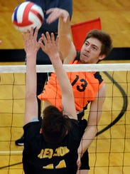 York Suburban's Nate Bowman slams a shot past Red Lion's