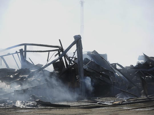 Suntreat's North Packing House was destroyed in a blaze that began early Friday morning.