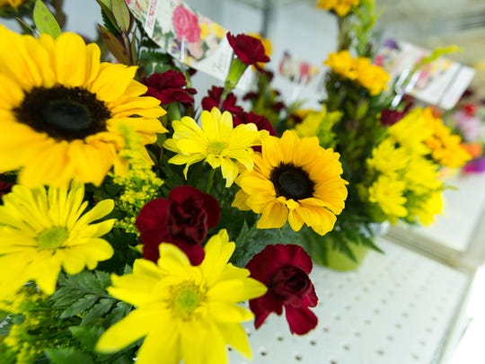 Pictured are floral bouquets on Wednesday at Flowerama.