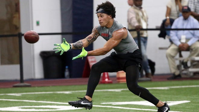 Evan Engram didn't  have to do much at Ole Miss' pro day after an impressive showing at the NFL draft combine.