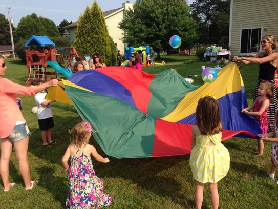 A $30 parachute and a bunch of inflatable balls make