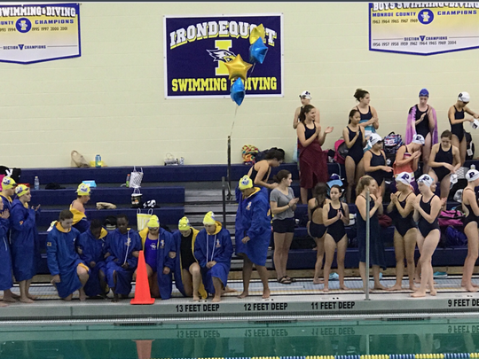 A handful of swimmers for the girls team at Irondequoit