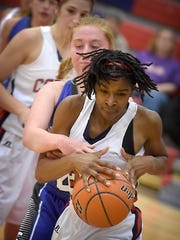 Lebanon's Alexis Hill is relentless on the court, whether attacking the basket or chasing down loose balls.