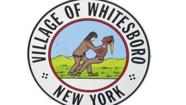 The village of Whitesboro's official seal depicts a cartoonish scene with a white pioneer with his hands near a Native American's neck. The village has decided to change the seal.