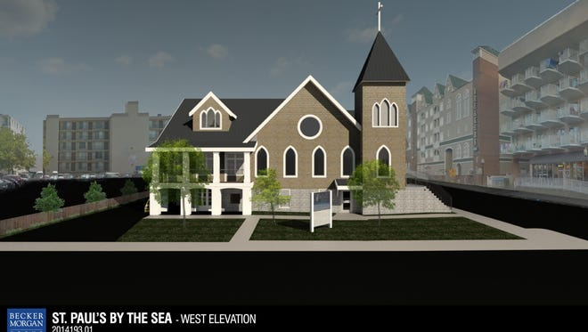 St. Paul's by-the-Sea Episcopal Church design rendering.