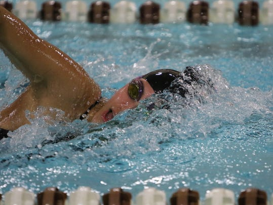 Swimming Dowling Victory Over Marshalltown