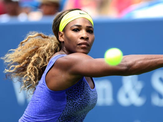 Serena Williams, the number 1 seed for the Western and Southern Open beat Samantha Stosur on Center Court at the Lindner Family Tennis Center. Williams won 7-6(7), 7-6(7) Wednesday.