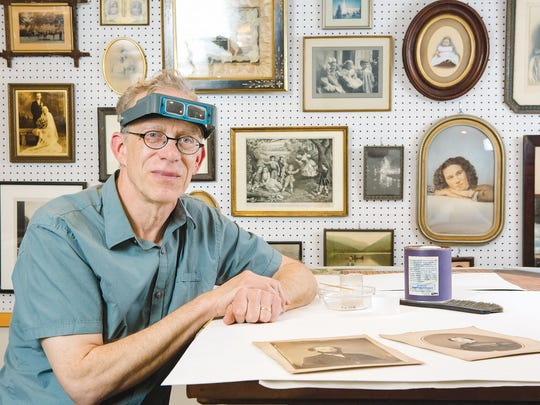 Gary Albright, at home amid history in his home studio