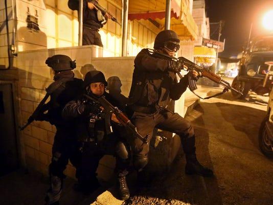 EPA MIDEAST PALESTINIANS ISRAEL HEBRON CLJ POLICE --- WE