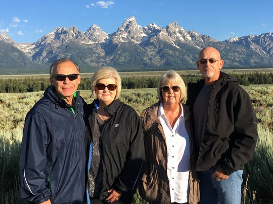 Abilene residents Jerry and Betty Gayden and Joyce and Robert Wommack on a vacation that included Jackson Hole, Wyoming, Grand Tetons National Park and Yellowstone National Park.