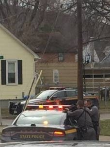 Armed state troopers converged outside 319 Marion Ave., Endwell, after a reported home invasion that turned out to be a hallucination by a man who lived there.