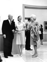 Margaret Norton (center) with Tilly Ferguson (left)