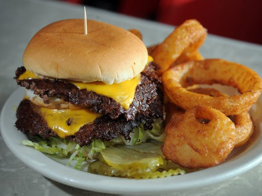 The famous Double Cheeseburger from the Working Man's Friend at 234 N Belmont.