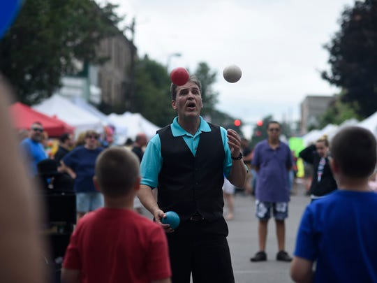 Thousands attended the 35th annual Strawberry Festival in Owego in 2015.