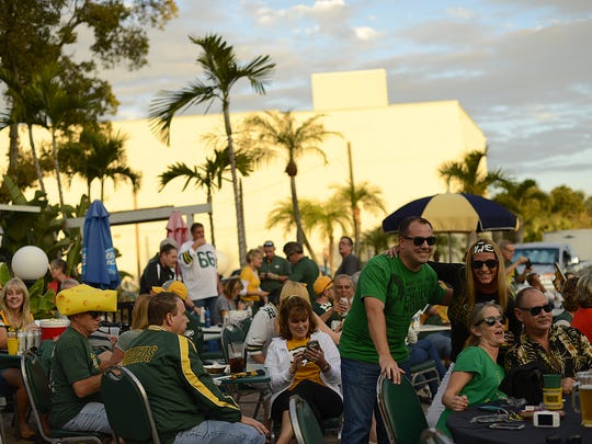 Green Bay Packers fans broke out their green and gold
