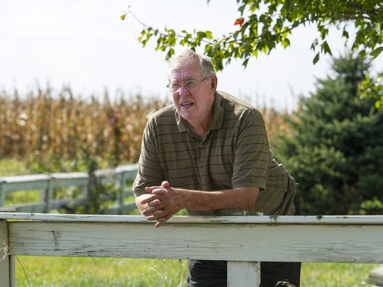 Richard Himsel lives on the farm his family has had since 1940 in Danville, Ind. Himself has filed a lawsuit challenging the constitutionality of Indiana's Right to Farm laws. He says the presence of the industrial-sized hog farm adjacent to his property, 1,600 yards from his home, has diminished the quality of his life. Due to the odor, his wife no longer lives on the property.