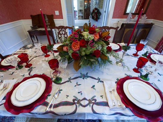 Last year's Midtown Holiday Tour featured holiday place settings at a home on Washington Boulevard.