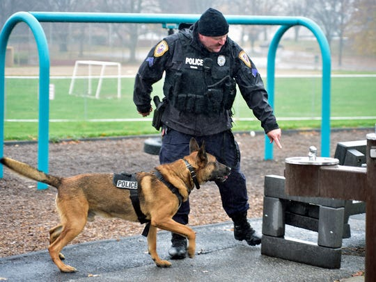 Cpl. Michael Taylor trains his Chambersburg Police