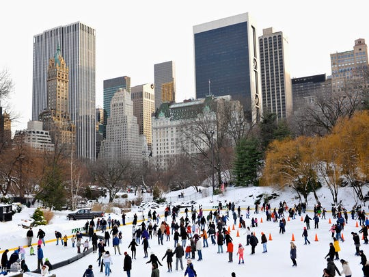 Wollman Rink in Central Park offers ice skating.