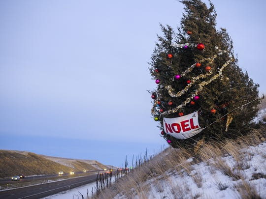 The original Noel Tree was cut down by mistake by a contractor in April.